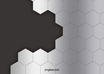 Metallic Silver Hexagons Background, Metal, Silver, Hexagon, Background image