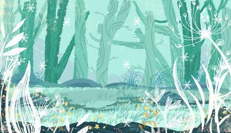 hijau hutan kayu latar belakang, Hijau, Hutan, Lembaga imej latar belakang