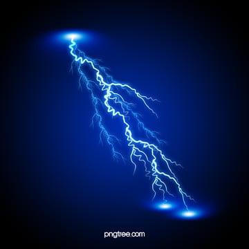 Blue Lightning, Blue, Lightning, Thunder, Background image