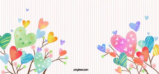 漫画 カラフル 愛 ハーツ 背景, 水彩, 愛, ハート形の 背景画像