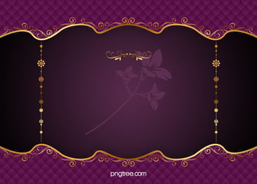 purple elegant pattern vector european gold frame background, Purple, Continental, Classic Background image