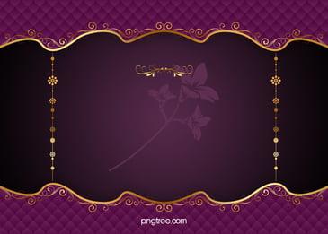 Purple Elegant Pattern Vector European Gold Frame Background, Purple, Continental, Classic, Background image