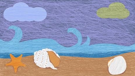 shell beach, Segar Kecil, Fotografi, Lanskap imej latar belakang