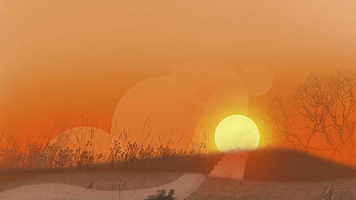 estepa la tierra plain puesta de sol antecedentes, Cielo, Jirafa, Sol Imagen de fondo