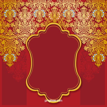 red wedding invitation card vector background , Red, Wedding, Invitation Background image
