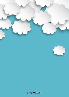cartoon origami clouds blue background , Cartoon, Origami, Three-dimensional Background image