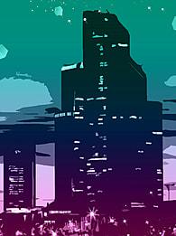 khu thương mại  Đêm 西蒂 skyline  alabama nền , Thành Phố., Tòa Nhà, Thành Phố Cách điệu Ảnh nền