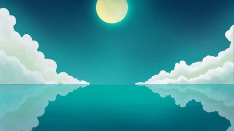 藍色海洋, 藍色, 海洋, 度假 背景圖片
