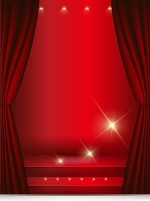 Độ nét cao màu đỏ nền sân khấu , Màu đỏ Trên Sân Khấu., Độ Nét Cao, Nền Màu đỏ. Ảnh nền