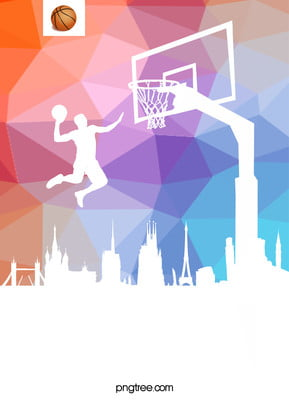 gradient vector basketball poster , Basketball, Enthusiasm, Geometry Background image