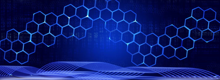three dimensional hexagonal geometry sense of blu ray technology wall background , Hexagon, Three-dimensional, Geometry Background image