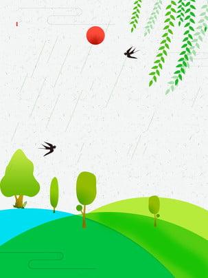 綠色草地草坪和樹木 , 藍天, 白雲, 草地 背景圖片