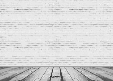 Vector White Brick Wall Texture Perspective Background Floor, White, Textured, Three-dimensional, Background image
