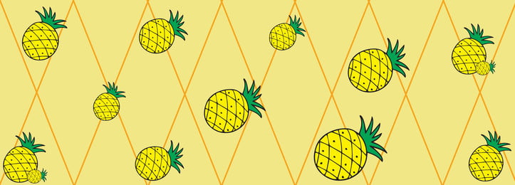 Pineapple Background Fruit Poster Banner Image