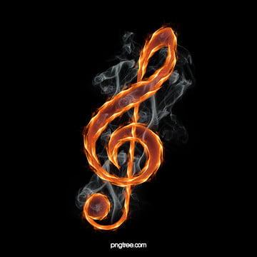 激情の火炎音符背景 , 激情, 炎, 音符 背景画像