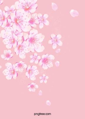 वेक्टर गुलाबी चेरी फूल में तैर पृष्ठभूमि , वेक्टर, गुलाबी, बनावट पृष्ठभूमि छवि