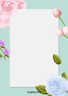 flowers border background h5 , Frame, Flat, S Background image