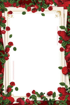 romantic roses wedding background border , Romantic, Rose, Frame Background image