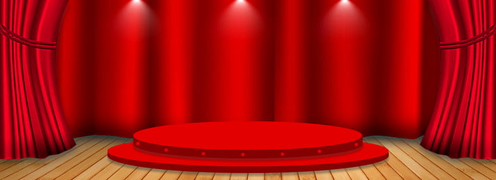 Stage Red Curtain, Stage, Red, Curtain, Background image