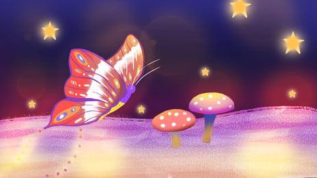 तितलियों घूमता चित्रण पृष्ठभूमि, पानी के रंग का, नीले रंग का पाउडर, तितली पृष्ठभूमि छवि