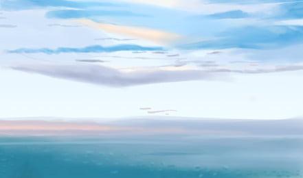 加州夕陽下海邊沙灘背景圖, 加州, 夕陽, 天空 背景圖片
