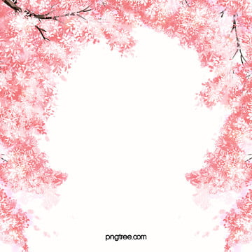 로맨스 핑크 벚꽃 배경 , 로맨틱, 핑크, 벚꽃 배경 이미지