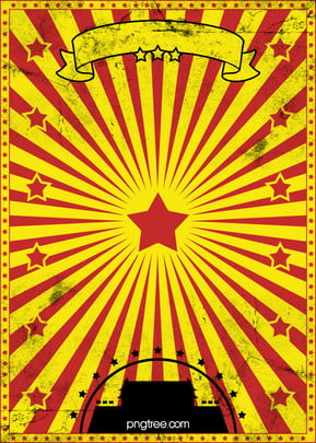 retro red and yellow circus poster , Retro, Red, Yellow Background image