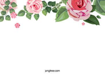 Watercolor Floral Flower Frame Background, Simple, Watercolor, Flowers, Background image