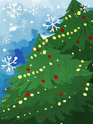 क्रिसमस क्रिसमस पेड़ पृष्ठभूमि , क्रिसमस, क्रिसमस पेड़, कार्टून पृष्ठभूमि छवि