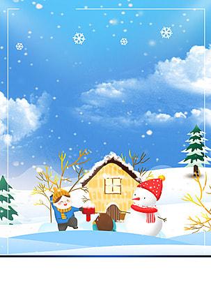 雪だるま フィギュア 漫画 装飾 背景 , 祝い, デザイン, 休日 背景画像