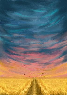 trigo cereal campo rural background , Fazenda, Paisagem, Sky Imagem de fundo
