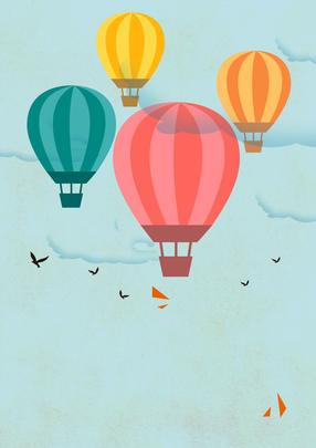 khinh khí cầu bay nền , Trên Bầu Trời., Thể Thao., Phiêu Lưu Mạo Hiểm. Ảnh nền