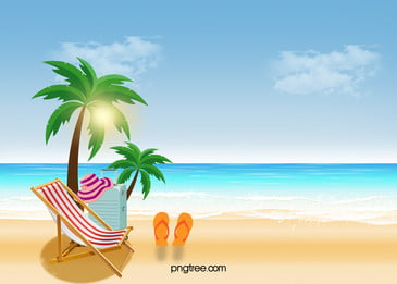 refreshing summer beach vacation beautiful background, Cool, Summer, Seaside Background image