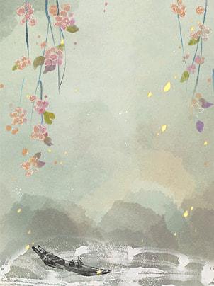湖のほとりの森林の小舟の背景 , 湖のほとり, 森, ボート 背景画像