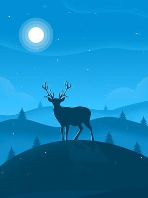 सांता क्लॉस हिरन के साथ , क्रिसमस, सांता क्लॉस, हिरन पृष्ठभूमि छवि