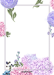 Elegant Watercolor Flowers Frame Background, Elegant, Watercolor, Hand Painted, Background image