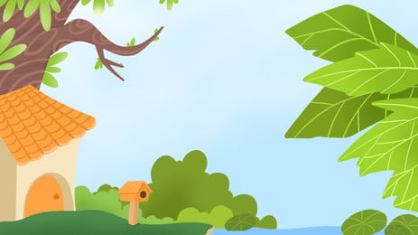 contos de fadas green magic tree house background, Contos De Grimm, Magic, A Casa Da árvore Imagem de fundo