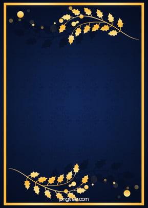 Blue Gold Pattern Shading Background, Golden, Flower, Cartoon, Background image