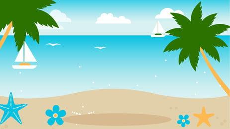 沙灘貝殼背景圖, 貝殼, 沙灘 背景圖片