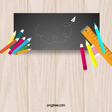 学校扁平化黒板のポスターの背景 , 学校, 黒板, フラット化 背景画像