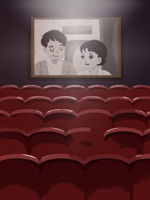 cinema teatro edifício interior background , Cortina De Teatro, Cortina, Móveis Imagem de fundo