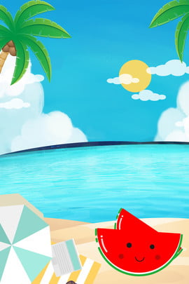 Fresh Summer Beach Background, Cool, Great, Sandy, Background image