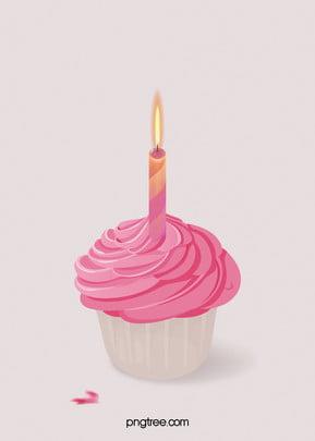 點燃了蠟燭的蛋糕 , 素材, 美食, 甜品 背景圖片
