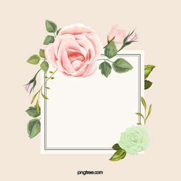 vector drawing art painted flowers border background , Pink, Watercolor, Art Background image