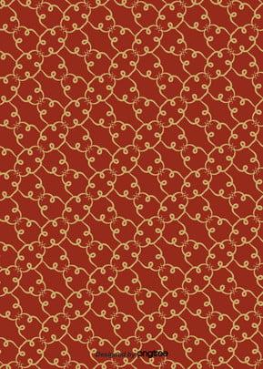 लाल विंटेज पुष्प पैटर्न वक्र बनावट पृष्ठभूमि , लाल, विंटेज, पैटर्न पृष्ठभूमि छवि