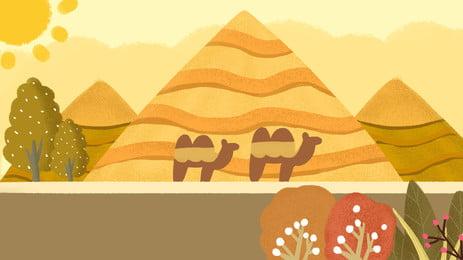 desert pyramid banner background, Desert, Pyramid, Egypt Background image