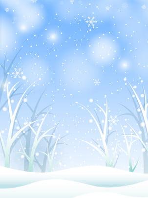 冬の雪の雪片の松の背景図 , 冬, 雪景色, 背景図 背景画像