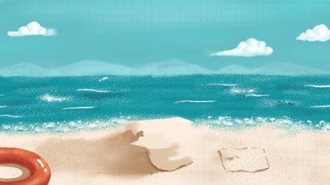 समुद्र तट महासागर, समुद्र तट, समुद्री, गोले पृष्ठभूमि छवि