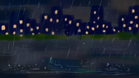 बारिश के बाद रात में सड़क पृष्ठभूमि, बारिश के बाद, आकर्षक, सड़क पृष्ठभूमि छवि