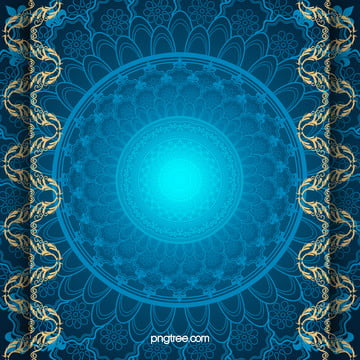 hand painted gold pattern on a blue background material , Golden, Pattern, Blue Background image